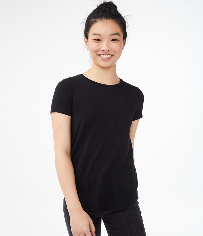 Seriously Soft Pocket Crew Tee