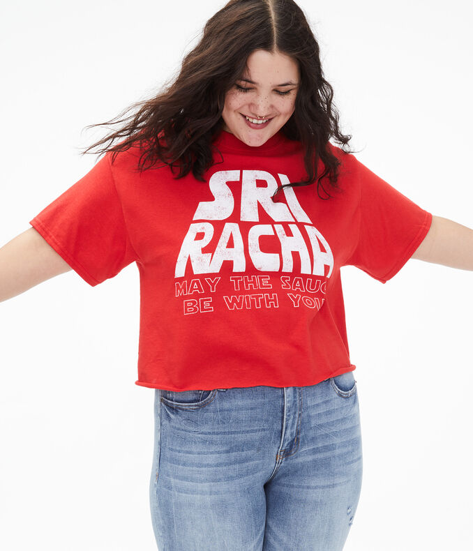 Sriracha Sauce Be With You Cropped Graphic Tee***
