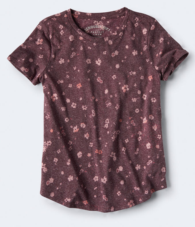 Seriously Soft Floral Crew Tee