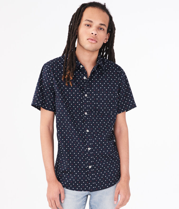 Americana Star Button Down Shirt by Aeropostale
