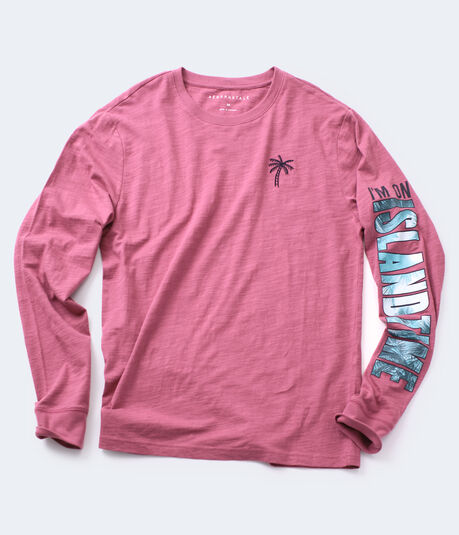 Long Sleeve Island Time Graphic Tee
