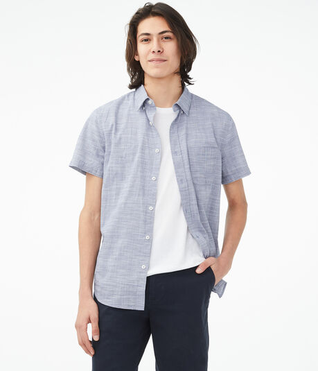 Crosshatch Button-Down Shirt