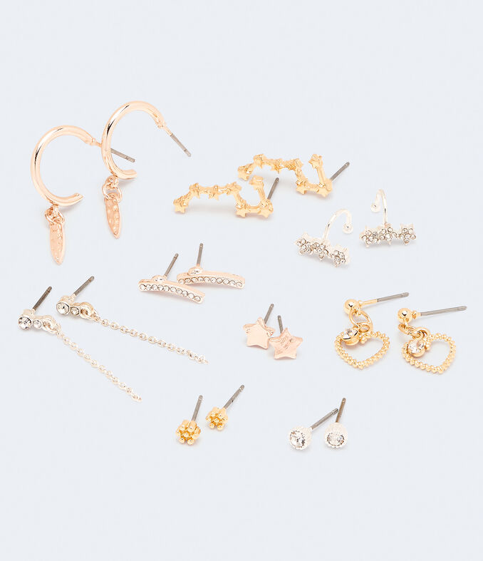 Sparkle Star Earring & Cuff 9-Pack