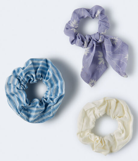 Floral Tied Bow Scrunchie 3-Pack