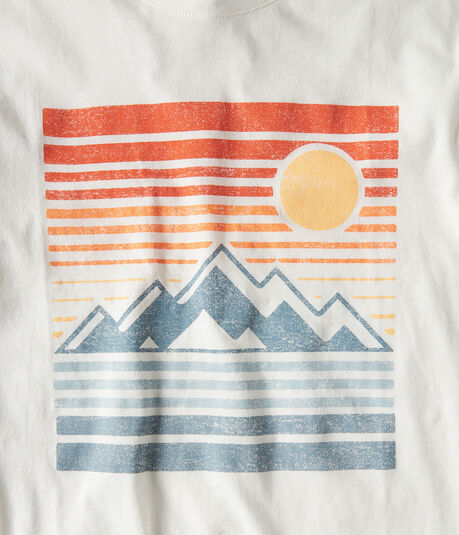 Long Sleeve Mountain & Sun Graphic Tee