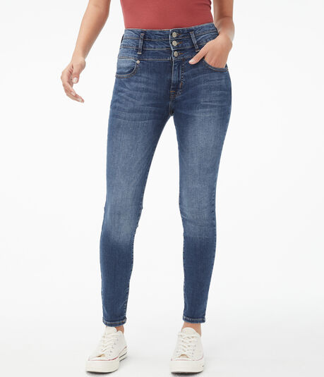 Seriously Stretchy Super High-Rise Triple-Waist Ankle Jegging