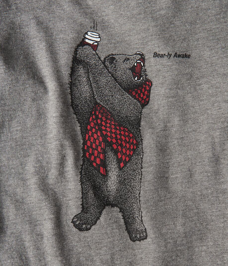 Long Sleeve Free State Bear-ly Awake Graphic Tee