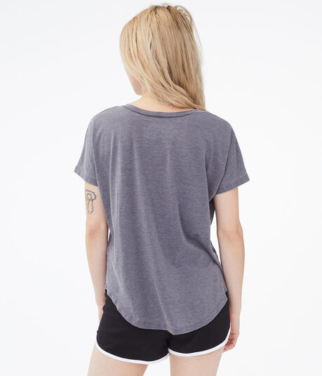 Burnout Girlfriend Pocket V-Neck Tee