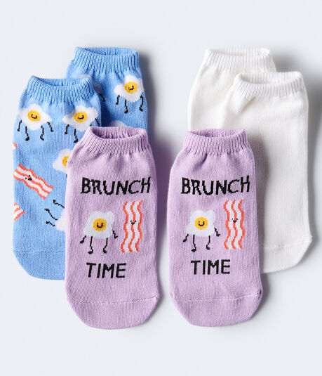 Brunch Time Ankle Sock 3-Pack***