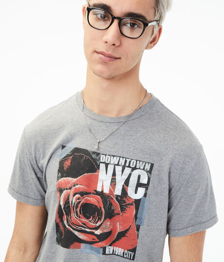 Downtown NYC Rose Graphic Tee
