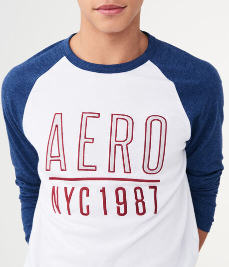 Long Sleeve Aero NYC 1987 Raglan Graphic Tee