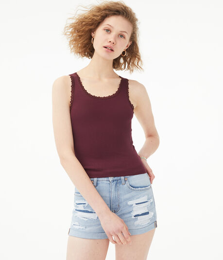 Lace-Trimmed Tank