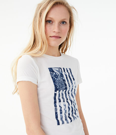 Free State Floral Flag Graphic Tee