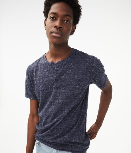 Heathered Nep Yarn Henley