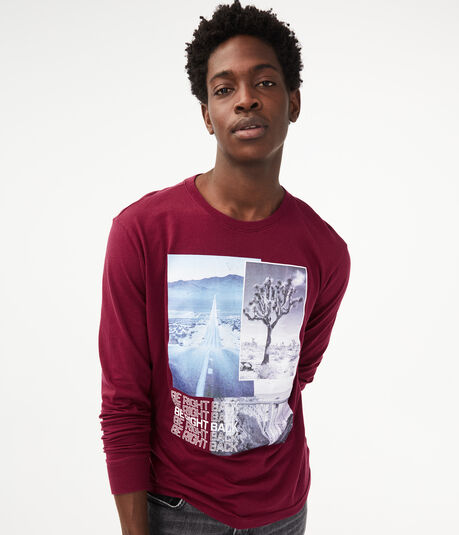 Long Sleeve Be Right Back Graphic Tee
