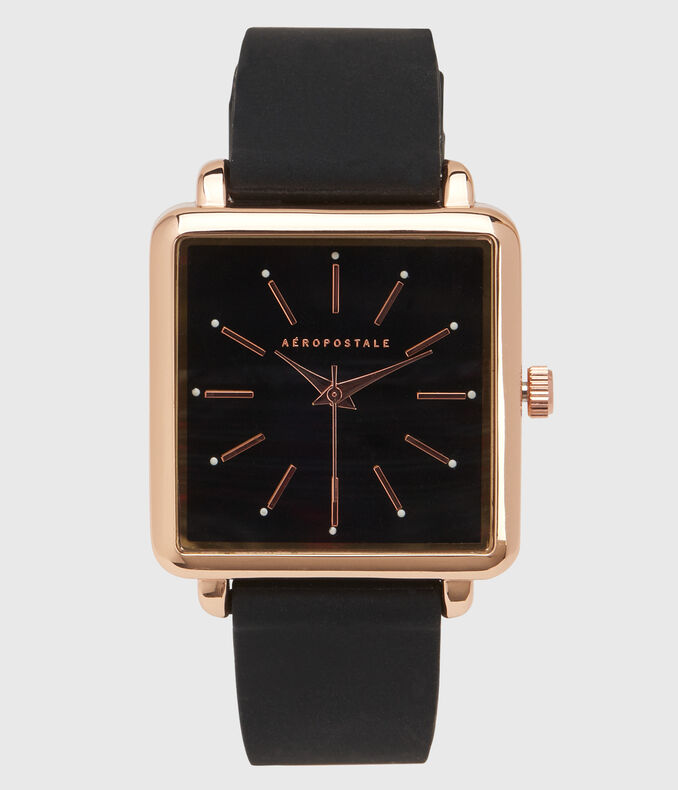 Rubber Square Analog Watch