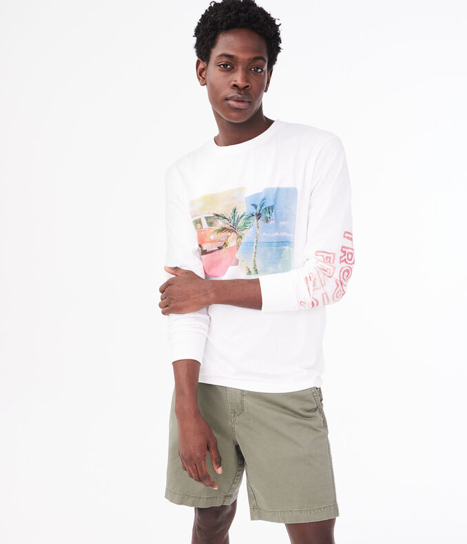 Long Sleeve Tropical Fever Graphic Tee