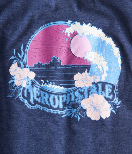 Aeropostale Sunset Wave Graphic Tee