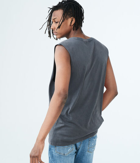 Solid Washed Muscle Tank