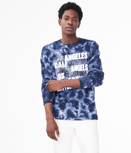 Long Sleeve Los Angeles Tie-Dye Graphic Tee