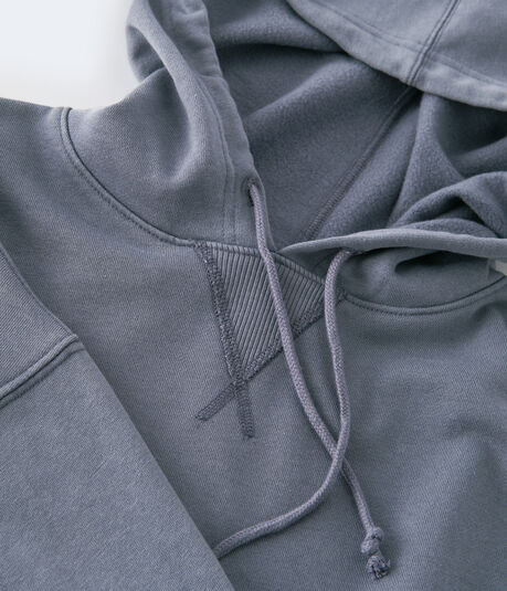 Solid Cropped Pullover Hoodie