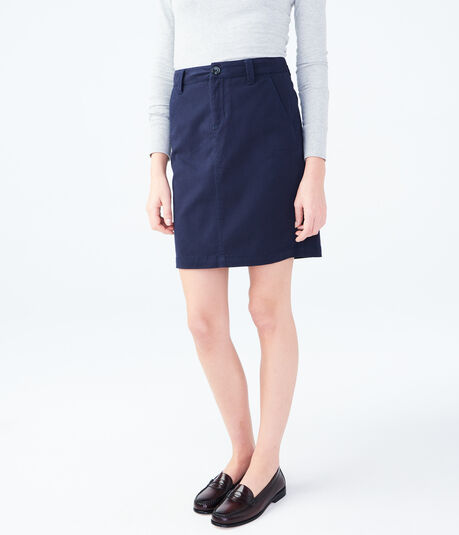 "Solid 19"" Uniform Skirt***"