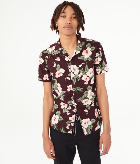 Hibiscus Resort Button-Down Shirt