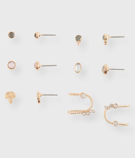 Leaf Stud & Cuff Earring 6-Pack