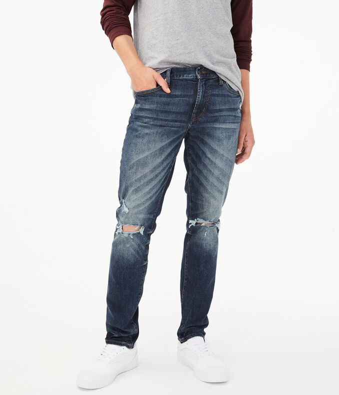 Real Denim Skinny Destroyed Jean by Aeropostale