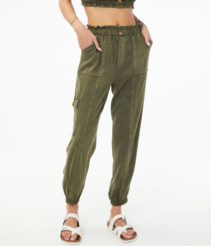 High-Rise Cargo Joggers