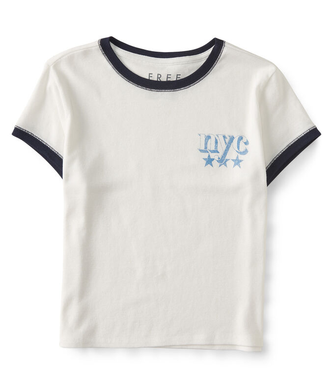 Free State NYC Cropped Ringer Tee