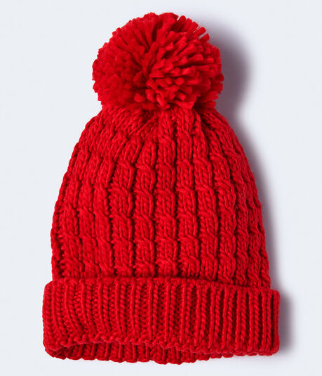 Solid Cable-Knit Hat