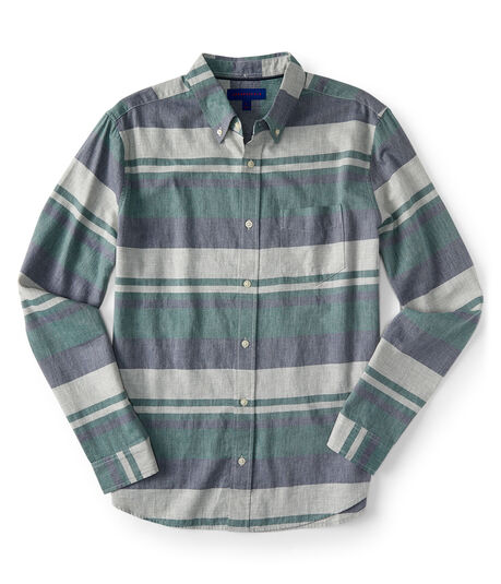 Long Sleeve Horizontal Stripe Woven Shirt