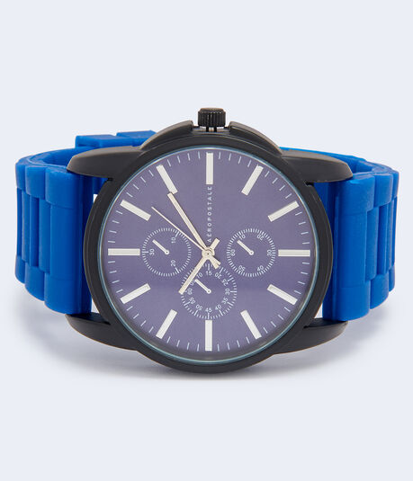 Rubber Chrono Analog Watch