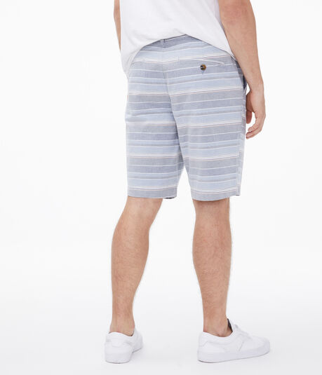 "Faded Stripe 9.5"" Oxford Shorts"