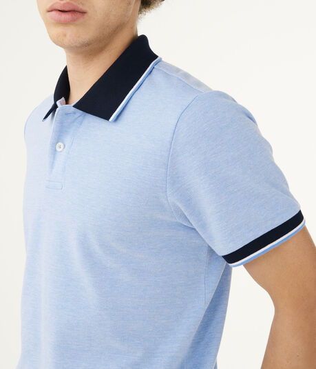 Solid Tipped Pique Polo