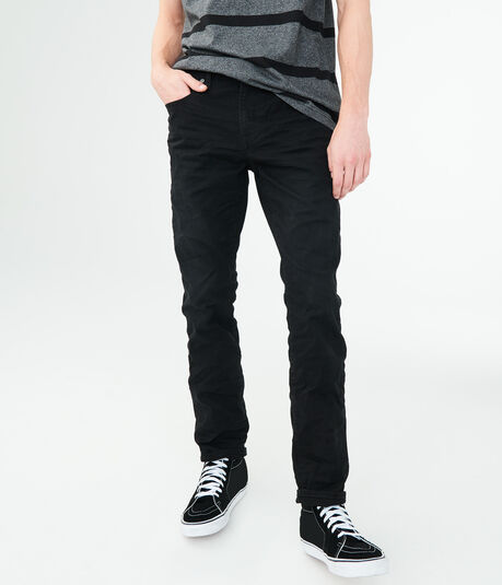Skinny Color Wash Stretch Twill Pants