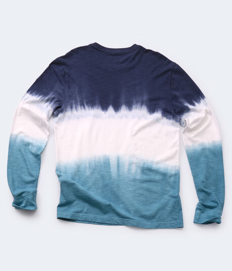 Long Sleeve California Waves Dip-Dye Graphic Tee