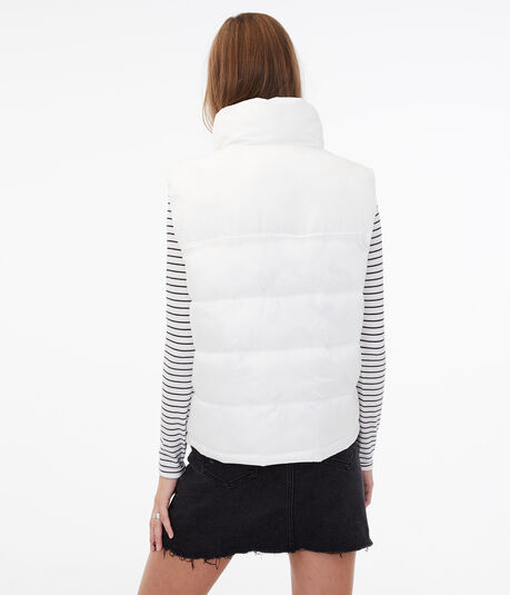 Horizontal Quilted Puffer Vest
