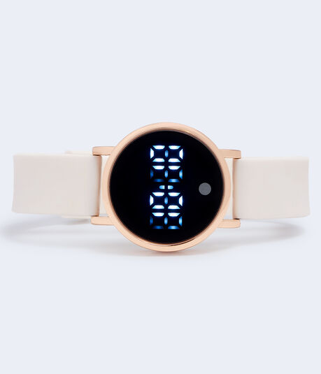 Rubber Round LED Digital Watch***