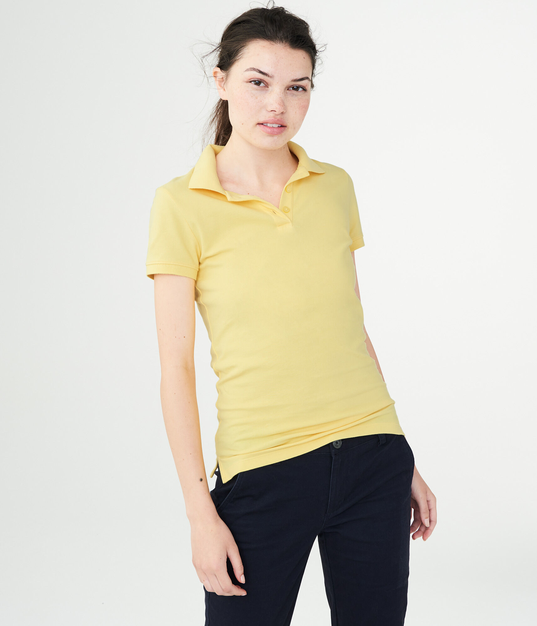 Womens Solid Uniform Pique Polo Aeropostale
