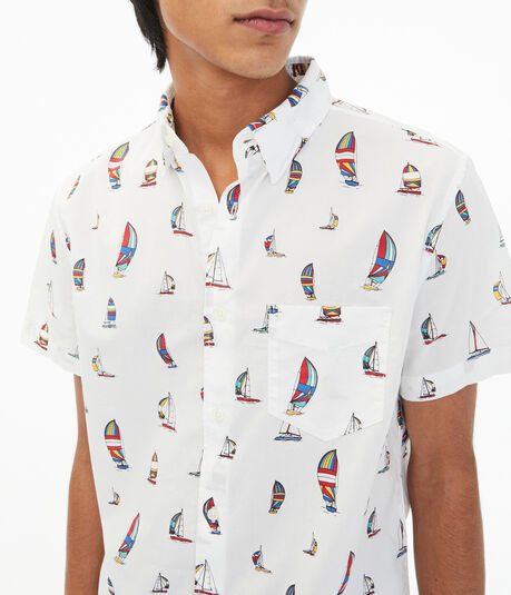 Sailboat Button-Down Shirt