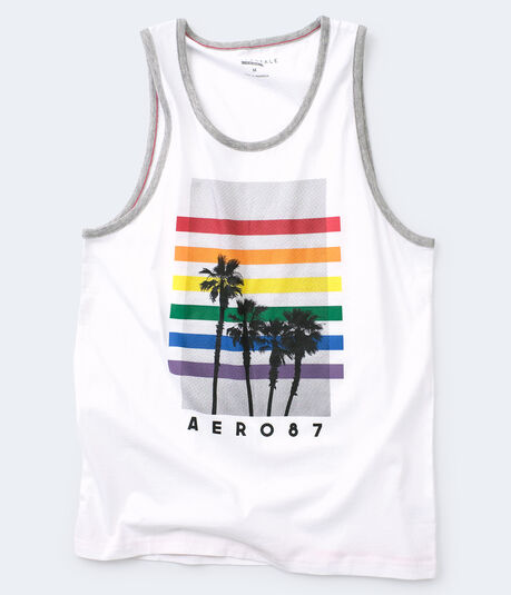 Rainbow Palms Muscle Tank