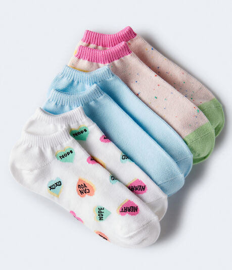 Sassy Heart Candy Ankle Sock 3-Pack***