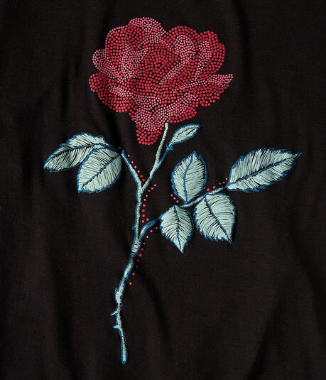 Seriously Soft Single Rose Relaxed Graphic Tee