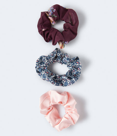 Flower Scrunchie 3-Pack