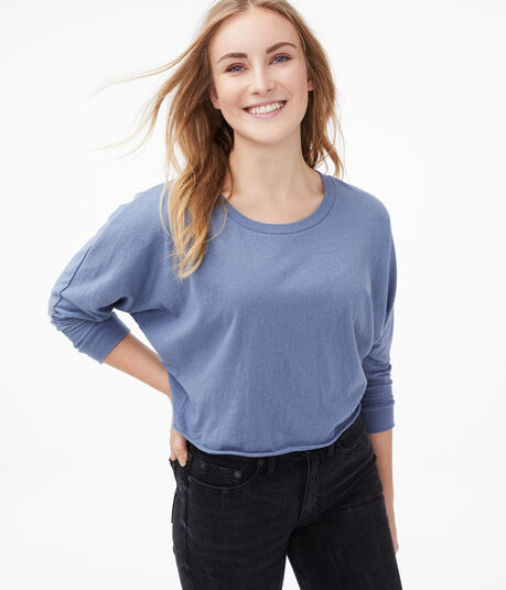 Cropped Dolman Crew Tee