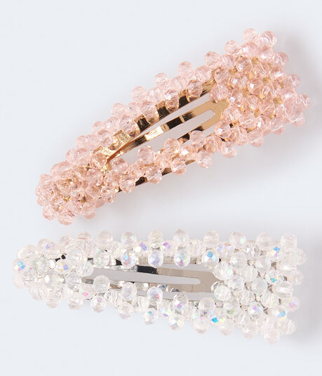 Beaded Hair Clip 2-Pack