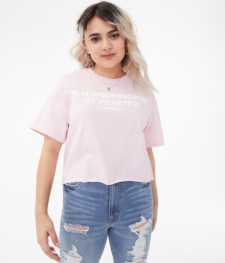 Mean Girls Wednesdays Cropped Graphic Tee