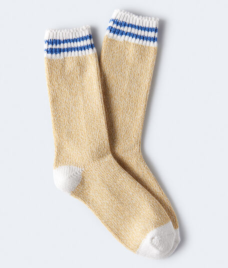 Seriously Soft Marled Stripe Boot Socks